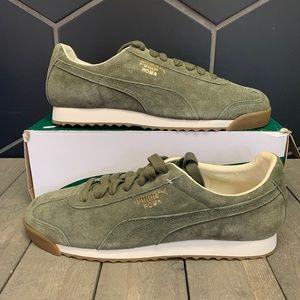 Puma Roma Distressed NBK Burnt Olive White Sneaker